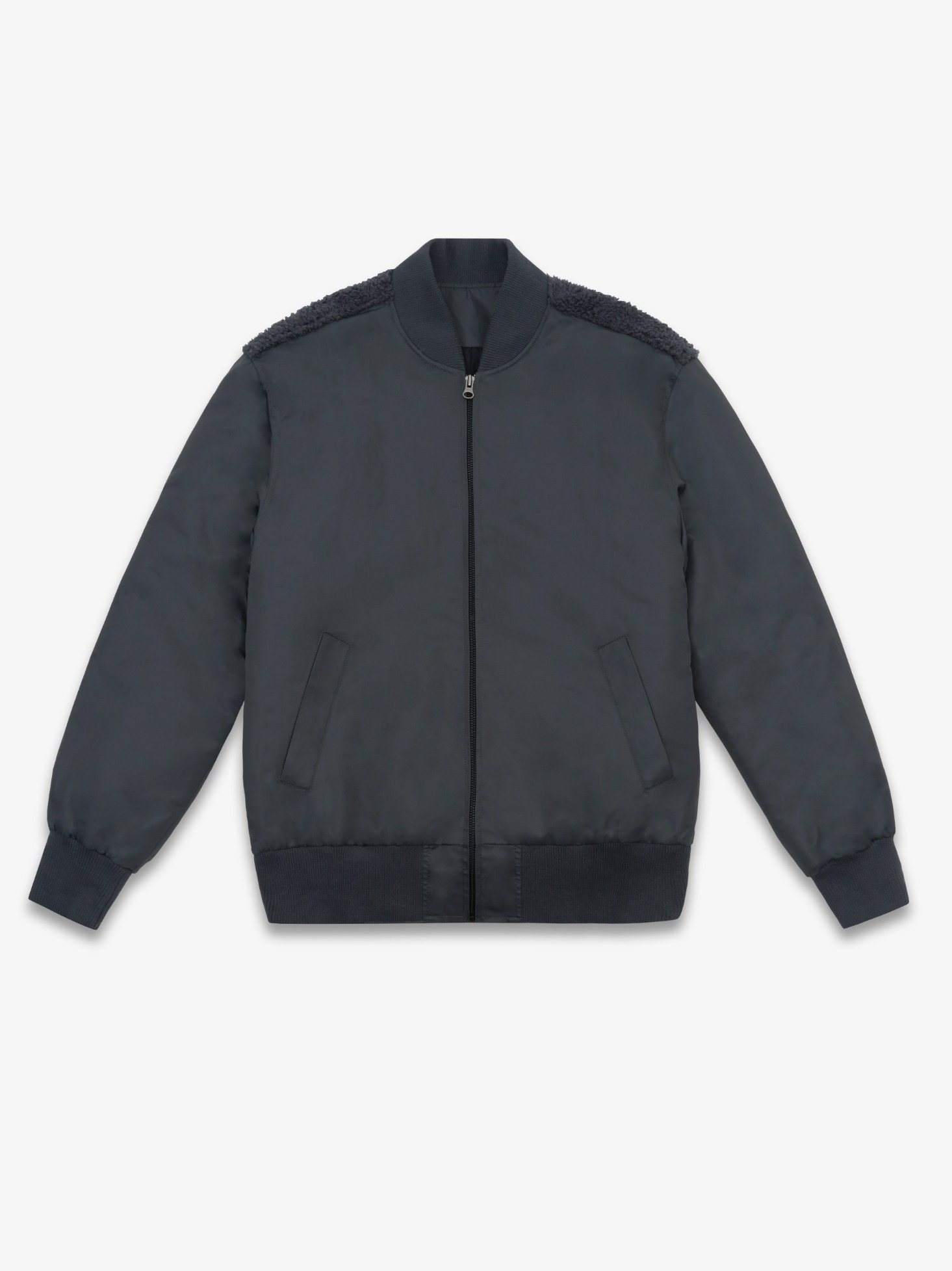 LAMBS WOOL MA-1 BOMBER (CHARCOAL) 시즌오프 60% 특별할인 220,000원 ->